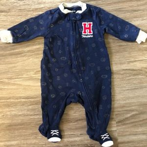 Carter's sportsy 'Handsome' footed navy pajamas